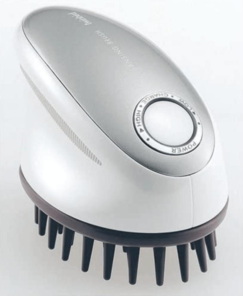 TWINBIRD 頭皮洗浄ブラシ モミダッシュNEO 新機能 泡立て機能搭載 シルバー SH-2797Sのイメージ