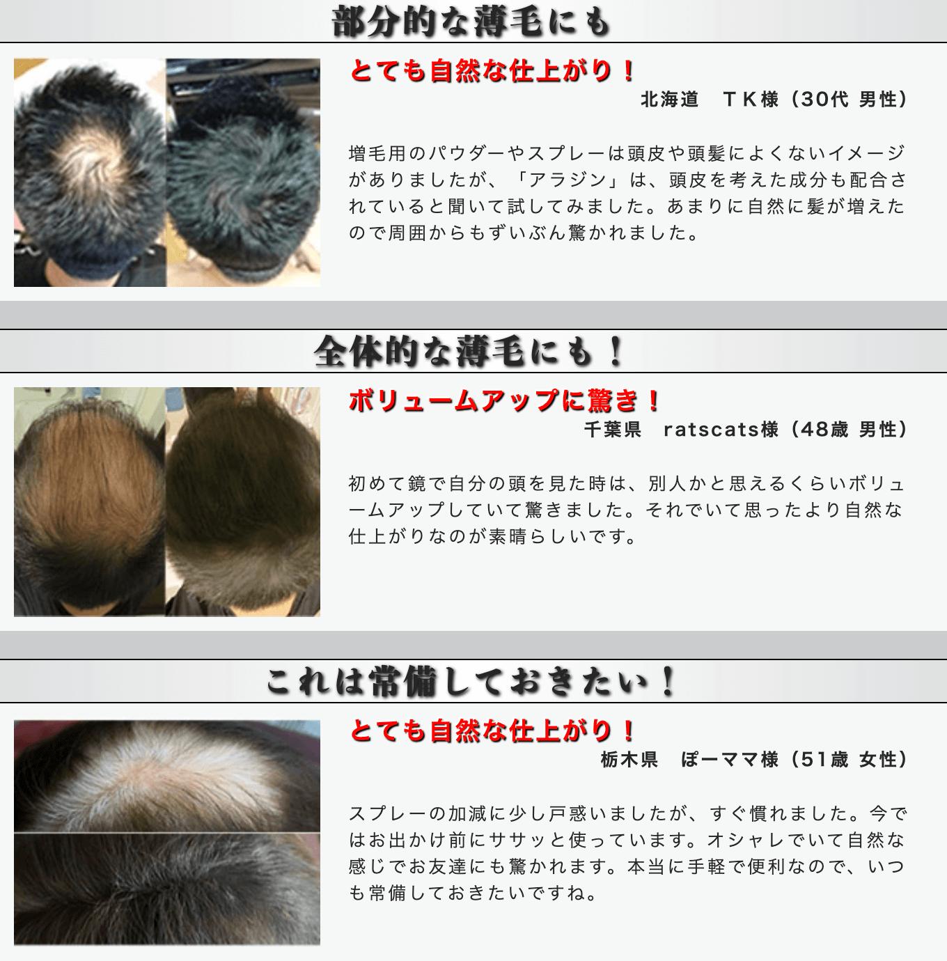 増毛スプレーのイメージ